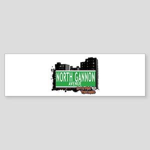 NORTH GANNON AVENUE, STATEN ISLAND, NYC Sticker (B