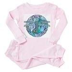 Cool Celtic Dragonfly Toddler Pink Pajamas