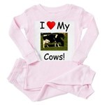 Love My Cows Toddler Pink Pajamas