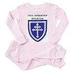 79TH INFANTRY DIVISION Toddler Pink Pajamas