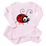 Cute Ladybug Toddler Pink Pajamas