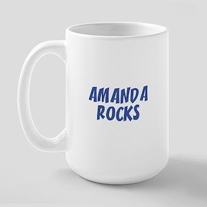 AMANDA ROCKS Large Mug