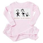 Skipper's My Daddy. Toddler Pink Pajamas