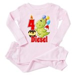 4 Diesel Toddler Pink Pajamas