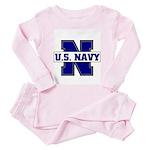 U S Navy Toddler Pink Pajamas