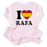 I Love Rafa Nadal Toddler Pink Pajamas