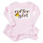 Coffee Girl Toddler Pink Pajamas
