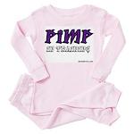 pimp in training Toddler Pink Pajamas