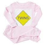 Twins Sign Toddler Pink Pajamas