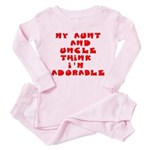 My aunt and uncle love me Toddler Pink Pajamas