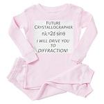 Future crystallographer Toddler Pink Pajamas