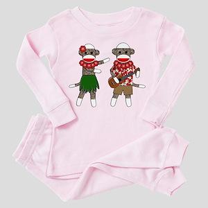 2-sockmonkey_luaucouple01 Pink Pajamas