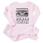 HUMAN BEATBOX - Baby/Toddler Pink Pajamas