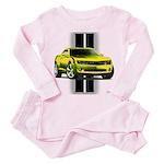 New Camaro Yellow Toddler Pink Pajamas