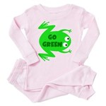 Go Green Frog Ecology Toddler Pink Pajamas