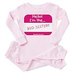 I'm the big sister Toddler Pink Pajamas