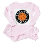Basketball Is My Life Toddler Pink Pajamas