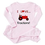 I Love Red Tractors Toddler Pink Pajamas