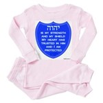 YHVH Is My Shield Toddler Pink Pajamas
