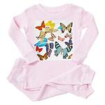 Beautiful Butterflies Toddler Pink Pajamas