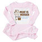 Meat is Murder Toddler Pink Pajamas