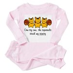 One by one, the squirrels Toddler Pink Pajamas