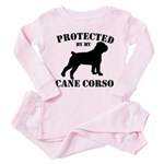 Protected by my Cane Corso Toddler Pink Pajamas