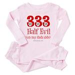 333 half evil/dads side Toddler Pink Pajamas