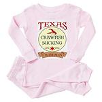 Crawfish Eating Champ Toddler Pink Pajamas