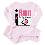 I Run For Breast Cancer Toddler Pink Pajamas
