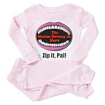 Morton Downey Jr. Zip It Logo Toddler Pink Pajamas