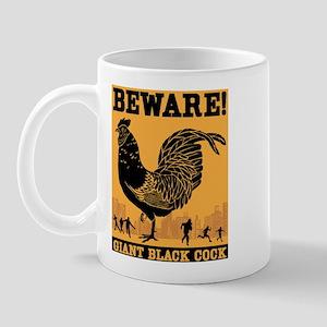 Giant Black Cock Mug