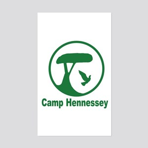 Camp Hennessey Rectangle Sticker
