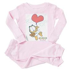 Heart Balloon Toddler Pink Pajamas