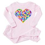 Rainbow Heart of Hearts Toddler Pink Pajamas