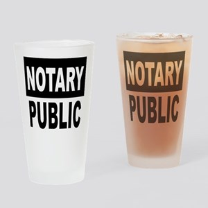 Notary Public Drinking Glass