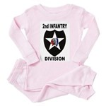 2ND INFANTRY DIVISION Toddler Pink Pajamas