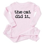 The Cat Did It Toddler Pink Pajamas