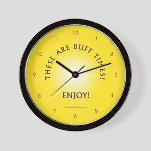 Buff Times - Wall Clock