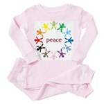 Peace Bebes Toddler Pink Pajamas