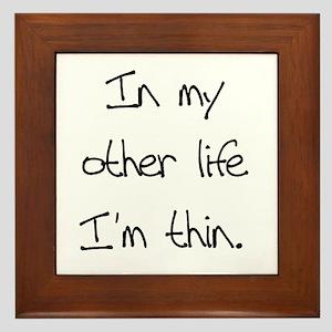 Other Life Diet Humor Framed Tile