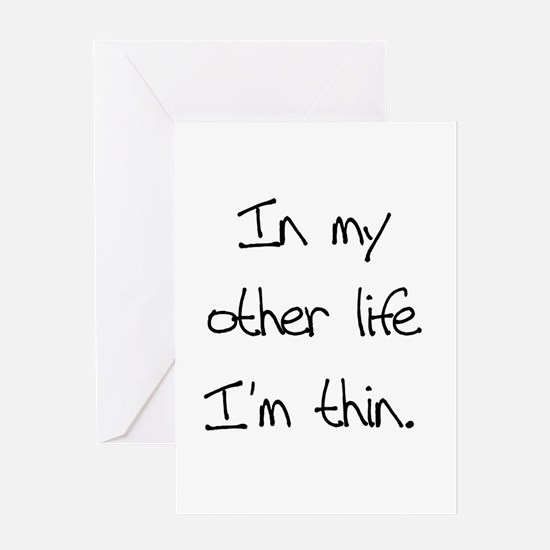 Other Life Diet Humor Greeting Card