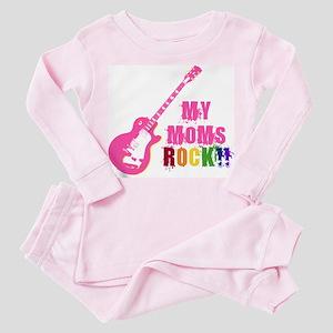 Rock On Moms!! Toddler Pink Pajamas