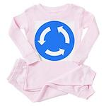 Traffic Circle Sign - Toddler Pink Pajamas