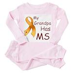 My Grandpa Has MS Toddler Pink Pajamas