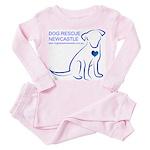 Dog Rescue Newcastle logo Toddler Pink Pajamas