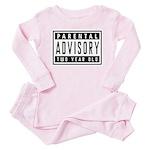 Two Year Old - Warning Label Toddler Pink Pajamas
