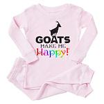 GOATS Make me Happy Pink Pajamas