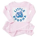 Little Buddha Yoga Symbol Baby T Shirts Blue