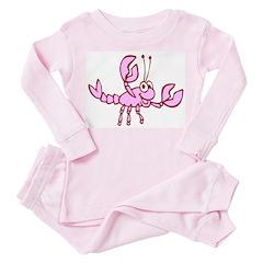 Crawfish Toddler Pink Pajamas